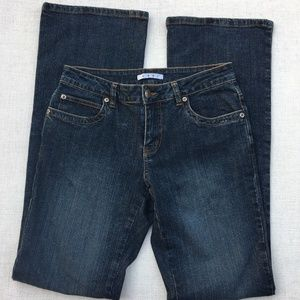 CAbi Jeans Size 2 Med Wash Boot Cut Mid Rise